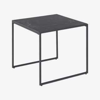 Vue de trois-quarts de la table basse AFINITY