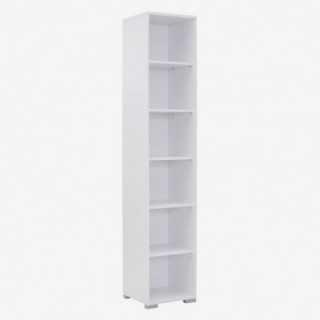 Vue de trois-quarts de l'étagère 42x214 cm SYSTEM chêne sonoma