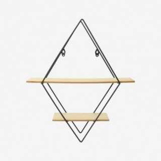 Vue de face de l'étagère triangulaire FILAIRE