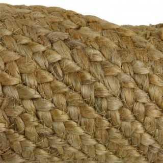 Vue détaillée du tapis rond JUTE