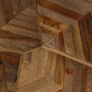 Vue détaillée du plateau des trois tables basses WOODY