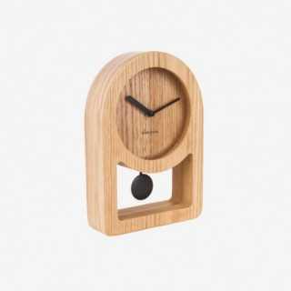 Vue de trois-quarts de l'horloge LENA