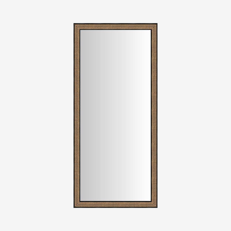 Vue de face du miroir CANNELÉ