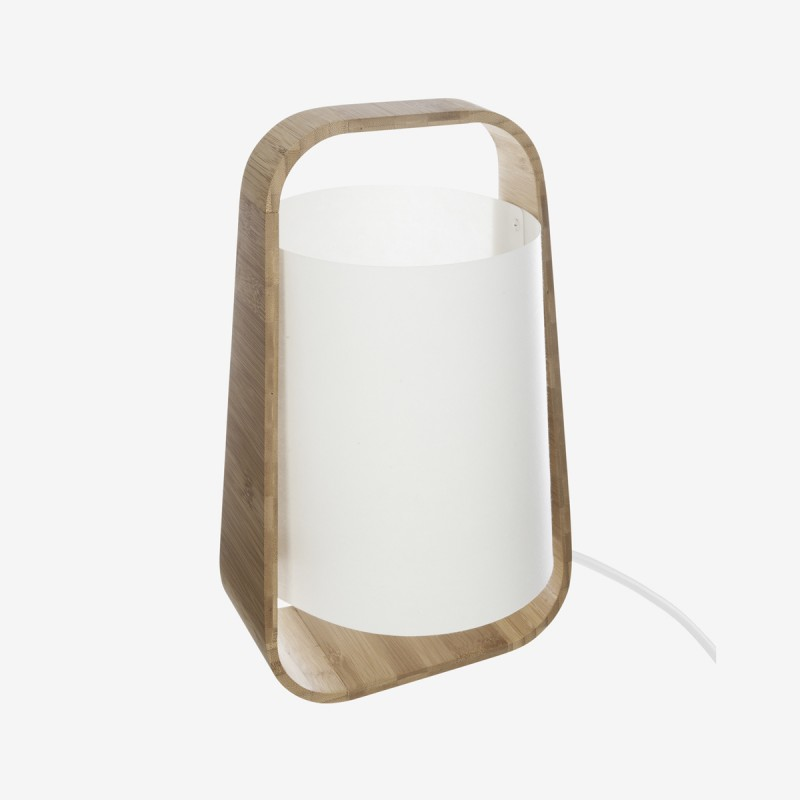 Vue de face de la lampe BAMBOU