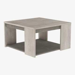 Vue de trois-quarts de la table basse BALEARES