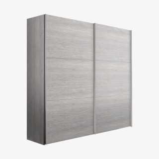 Vue de face de l'armoire COSMO coulissante