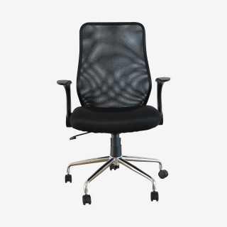 Vue de face du fauteuil de bureau DURFY