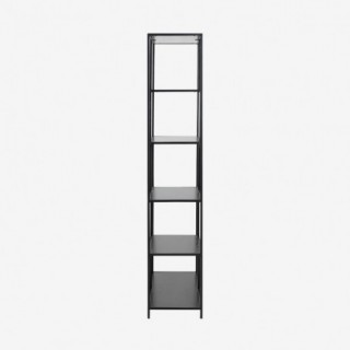 Vue de profil de l'étagère ALIBA chêne noir