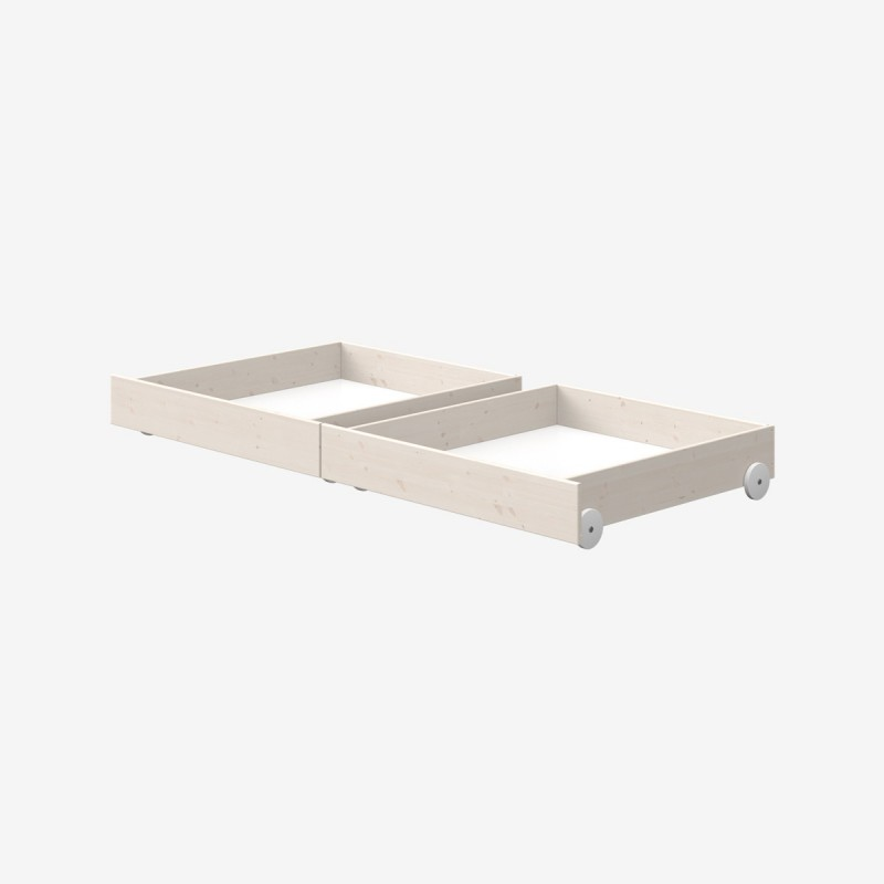 Vue de face du lot de 2 tiroirs pour lit COMBI