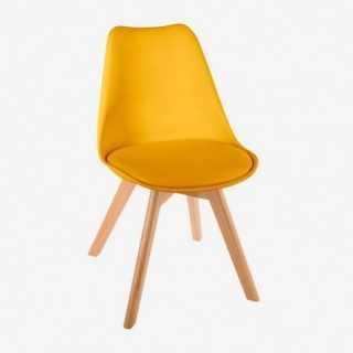 Vue de trois-quarts de la chaise JAYA