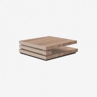 Vue de trois-quarts de la table basse RIGA