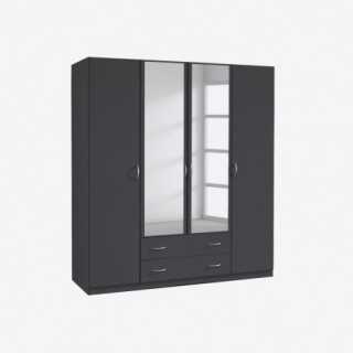 vue de trois-quarts de l'armoire CASE 4 portes 2 tiroirs
