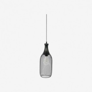 Vue de face de la suspension CLOCHE forme bouteille
