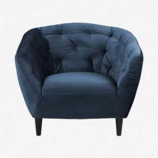 Vue de face du fauteuil ALOVA rose poudré