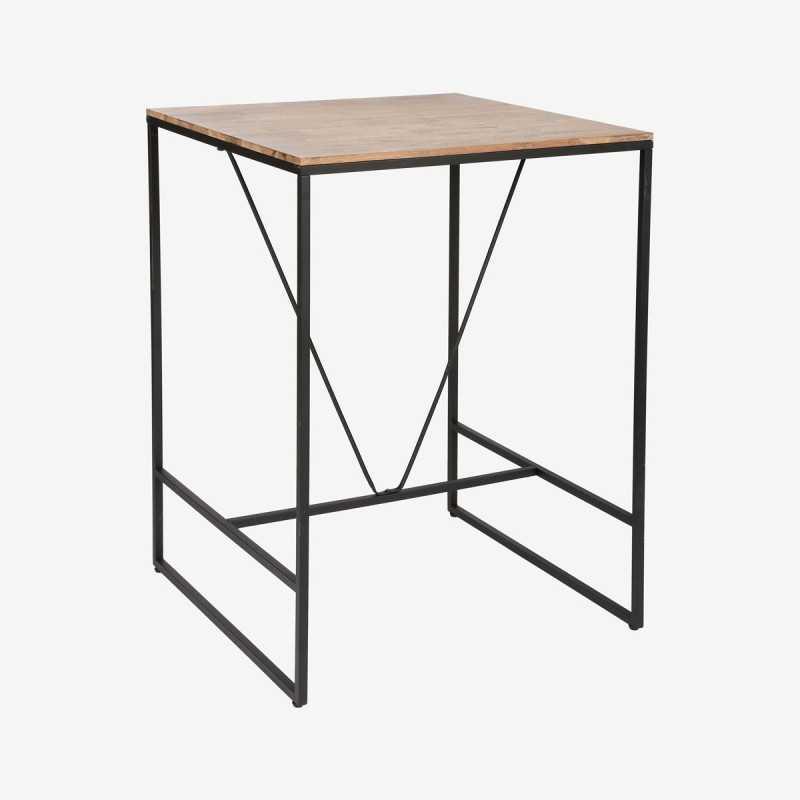 Vue de trois-quarts de la table haute JIDENA