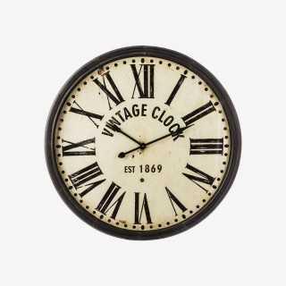 Vue de face de l'horloge VINTCLOCK
