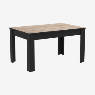 Vue de trois-quarts de la table WAYNE