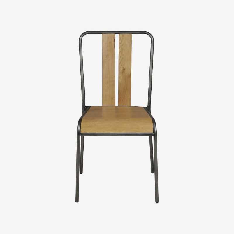 Vue de face de la chaise MANHATTAN