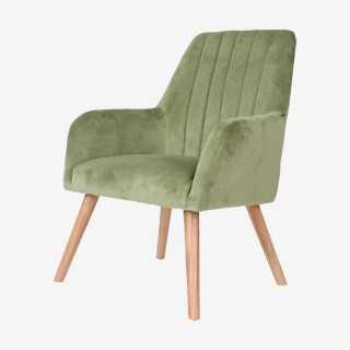 Vue de trois-quarts du fauteuil ZIEN