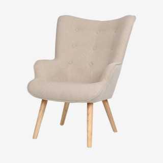 Vue de trois-quarts du fauteuil ZOPY