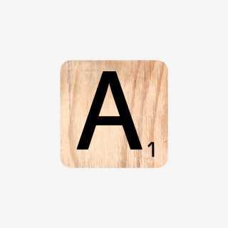 Vue de face de la lettre A