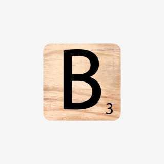 Vue de face de la lettre B