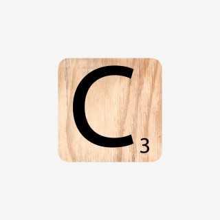 Vue de face de la lettre C