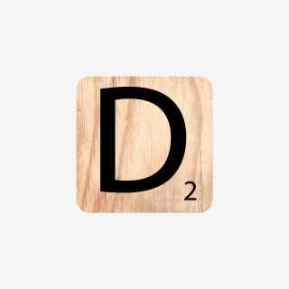 Vue de face de la lettre D