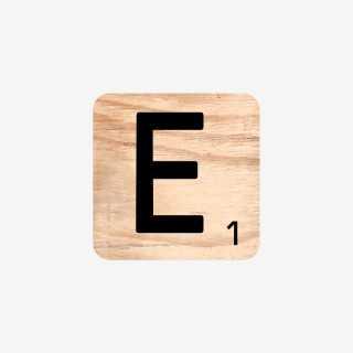 Vue de face de la lettre E