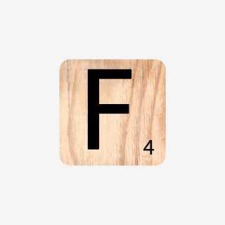 Vue de face de la lettre F