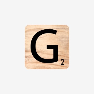 Vue de face de la lettre G