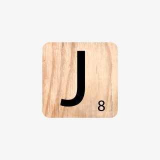 Vue de face de la lettre J