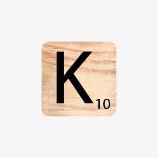 Vue de face de la lettre K