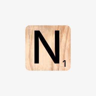 Vue de face de la lettre N