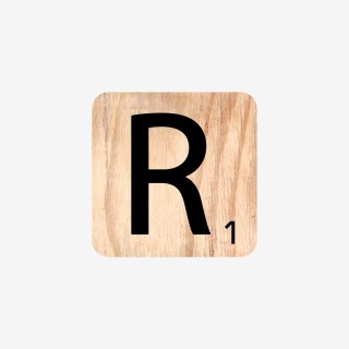 Vue de face de la lettre R