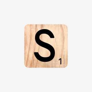 Vue de face de la lettre S