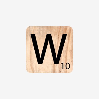 Vue de face de la lettre w