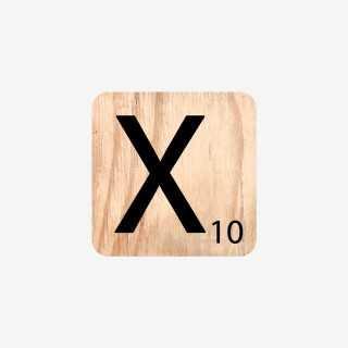 Vue de face de la lettre X