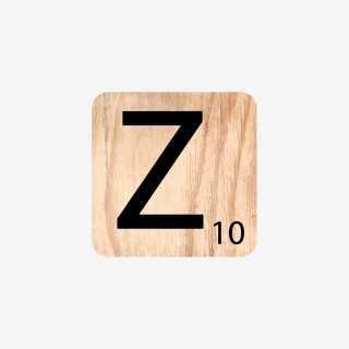 Vue de face de la lettre Z
