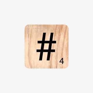 Vue de face du symbole Hashtag