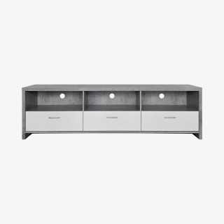 Vue de face du meuble TV RIXON