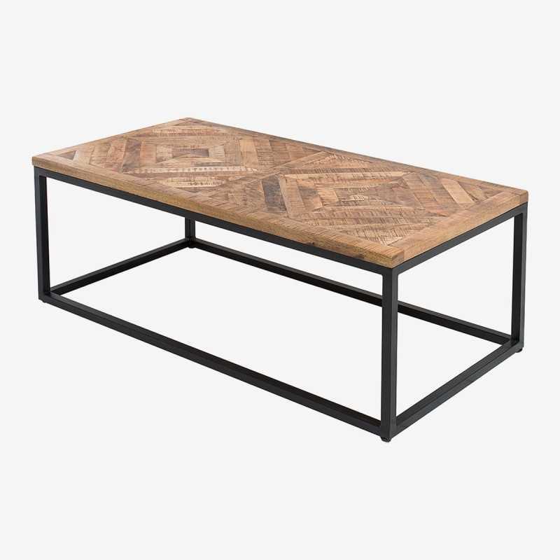 Vue de trois-quarts de la table basse RELI