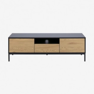Vue de face du meuble TV ALIBA avec tiroirs