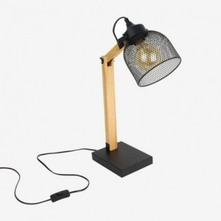 Vue de trois-quarts de la lampe de bureau GRILLE
