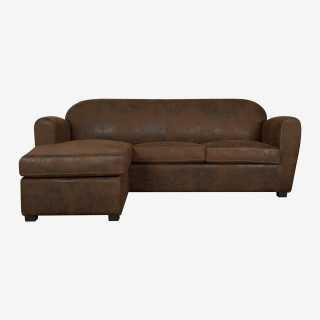 Vue de face du canapé d'angle CABB