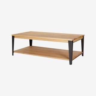 Vue de trois-quarts de la table basse MANHATTAN