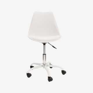 Vue de face de la chaise de bureau CALIX