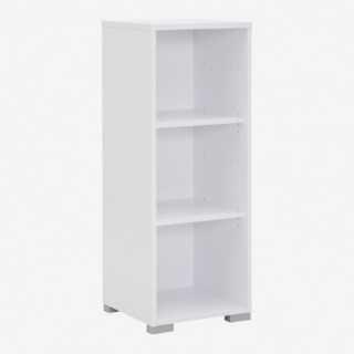 Vue de trois-quarts de l'étagère 42x110 cm SYSTEM chêne sonoma