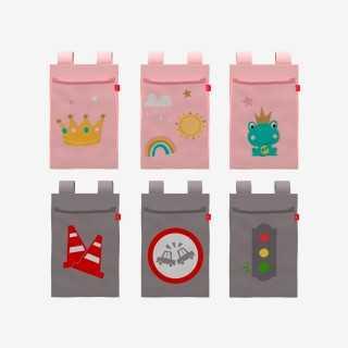 Vue de face des poches magazines thème Princesse