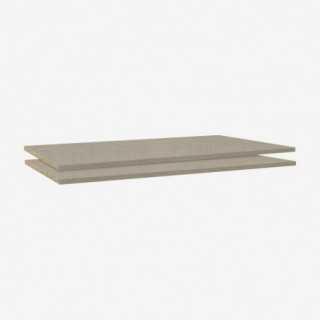 Vue de trois-quarts des tablettes pour armoire CASE ou HALIFAX